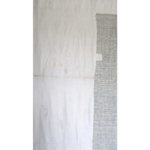 2020 | vintage cotton sheet made from Cullman County, AL repurposed feed sacks, linen, sashiko thread