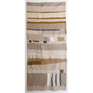 2020 | repurposed linen remnants, linen cloth, linen thread
