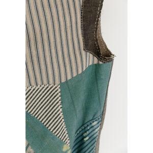 2020 | repurposed linen and cotton cloth, indigo dyed cotton cloth, sashiko thread