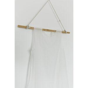 repurposed linen and cotton cloth, cement, cotton thread